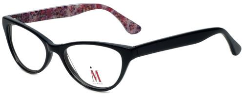 Isaac Mizrahi Designer Reading Glasses M110-01 in Black Pink 52mm