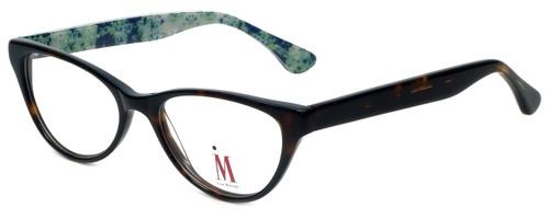 Isaac Mizrahi Designer Reading Glasses M110-02 in Tortoise Green 52mm