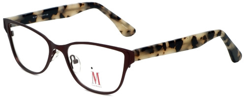 Isaac Mizrahi Designer Reading Glasses M106-02 in Brown 52mm