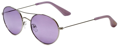 Isaac Mizrahi Designer Sunglasses IM103-37 in Orchard Silver with Purple Lens