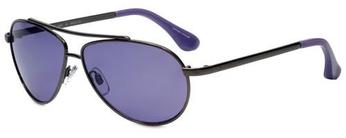 d40f7764706 Isaac Mizrahi Designer Sunglasses IM16-30 in Gunmetal with Purple Lens