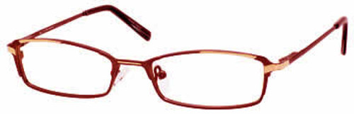 Marc Hunter 7213 in Burgundy Gold Designer Reading Glasses