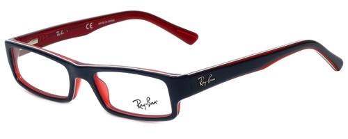 8b81d778f1 Ray-Ban Designer Eyeglasses RB5246-5088-50 in Navy and Red 50mm    Custom  Left   Right Lens