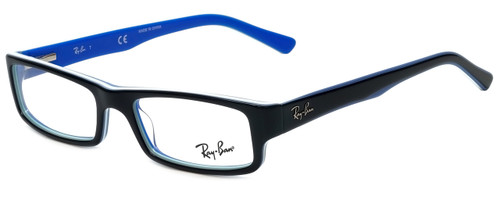 Ray-Ban Designer Reading Glasses RB5246-5151 in Black and Blue 50mm