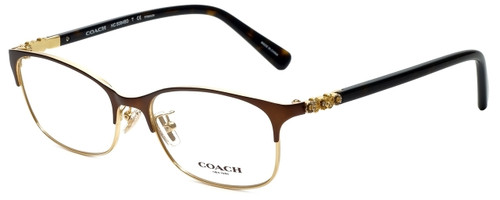 Coach Designer Reading Glasses HC5084D-9076 in Satin Brown Gold 53mm
