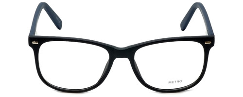 Metro Designer Eyeglasses Metro-35-Black-Navy in Matte Black Navy 53mm :: Custom Left & Right Lens