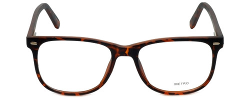 Metro Designer Eyeglasses Metro-35-Tort in Dark Tortoise Matte 53mm :: Custom Left & Right Lens
