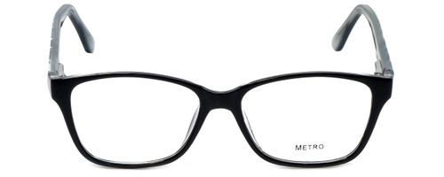 Metro Designer Eyeglasses Metro-23-Black in Black 47mm :: Rx Single Vision