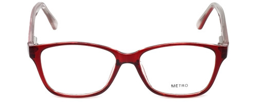 Metro Designer Eyeglasses Metro-23-Wine in Wine 47mm :: Rx Single Vision