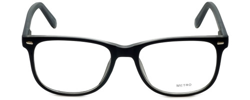 Metro Designer Eyeglasses Metro-35-Black-Crystal in Black Matte Crystal 53mm :: Rx Bi-Focal