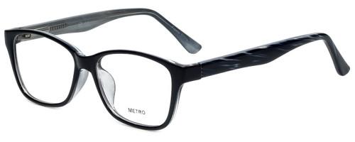 Metro Designer Reading Glasses Metro-23-Black in Black 47mm