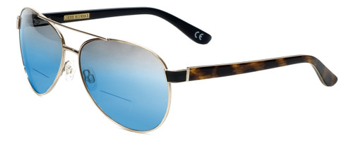 Corinne McCormack Designer Polarized Bi-Focal Sunglasses Water Mill in Gold 59mm