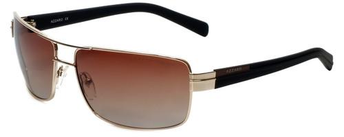 Azzaro Designer Polarized Sunglasses AZ4389-C5 in Gold 63mm