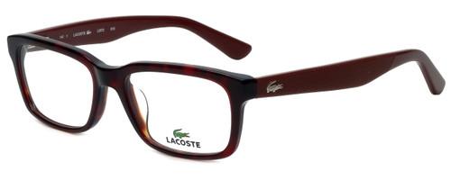 Lacoste Designer Eyeglasses L2672-615 in Red Havana 50mm :: Rx Single Vision