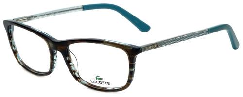 Lacoste Designer Eyeglasses L2711-215 in Azure Havana 52mm :: Rx Single Vision