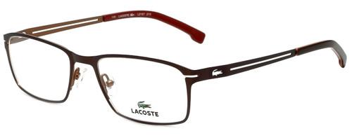 69d9d907207 Lacoste Designer Reading Glasses L2167-210 in Satin Brown 53mm