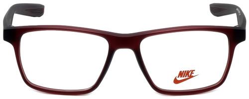 Nike Designer Eyeglasses Nike-5002-600 in Matte Red 48mm :: Custom Left & Right Lens
