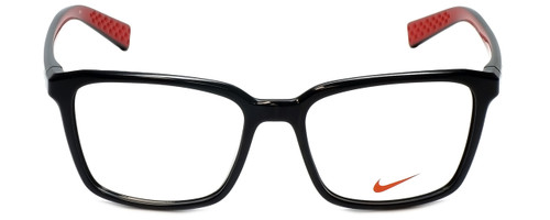 b143113f586d Nike Designer Eyeglasses 7096-005 in Black Red 53mm :: Rx Single Vision