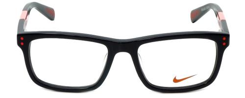 Nike Designer Eyeglasses 5536-015 in Black Hyper Punch 46mm Kids Size :: Rx Single Vision