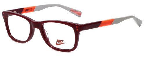 Nike Designer Eyeglasses 5538-605 in Team Red Bright Crimson 46mm Kids Size :: Rx Single Vision
