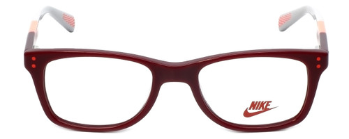 Nike Designer Reading Glasses 5538-605 in Team Red Bright Crimson 46mm Kids Size