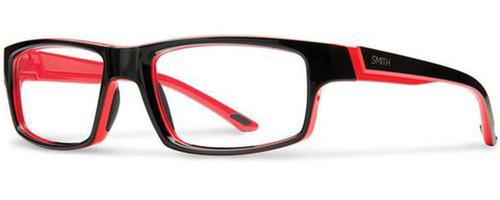 Smith Optics Designer Eyeglasses Vagabond in Black Fire Red 55mm :: Custom Left & Right Lens