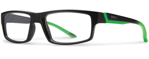 Smith Optics Designer Eyeglasses Vagabond in Black Reactor Green 55mm :: Progressive