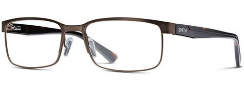 Smith Optics Designer Eyeglasses Sinclair in Bronze Havana 57mm :: Progressive