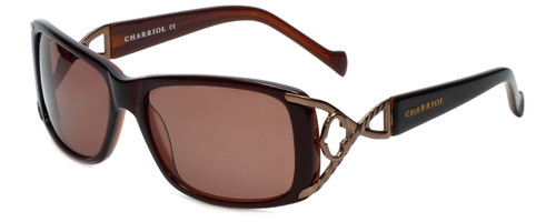 Charriol Designer Sunglasses in Brown Frame & Amber Lens (PC8049-C2)