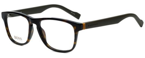 Hugo Boss Designer Eyeglasses BO0180-K8B in Havana Military Green 53mm :: Rx Bi-Focal