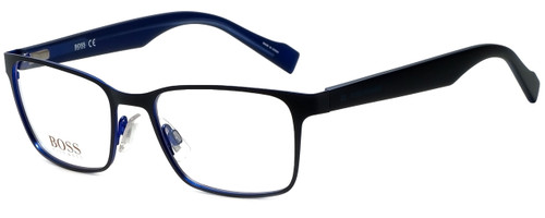Hugo Boss Designer Eyeglasses BO0183-JOD in Black Blue 51mm :: Rx Bi-Focal