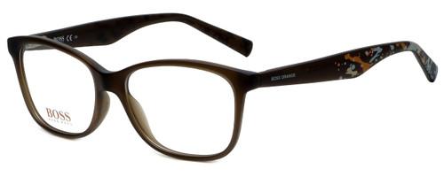Hugo Boss Designer Eyeglasses BO0216-F4S in Brown Splatter 52mm :: Rx Bi-Focal