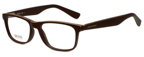 Hugo Boss Designer Eyeglasses BO0217-9FU in Distressed Brown 52mm :: Rx Bi-Focal