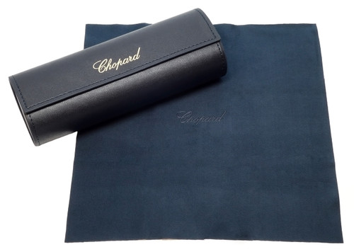 Chopard Designer Eyeglasses VCH162-4ALM in Dark Grey Transparent 54mm :: Rx Single Vision