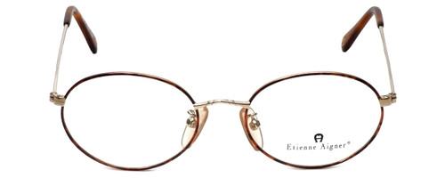 Etienne Aigner Designer Reading Glasses EA-3-2-49 in Demi Amber Gold 49mm