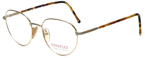 Duraflex Designer Eyeglasses Duraflex-2-Col-1 in Gold 51mm :: Rx Bi-Focal