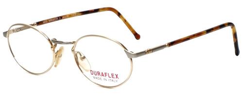 Duraflex Designer Reading Glasses Duraflex-3-Col-2 in Gold 48mm