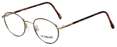 LA Gear Designer Reading Glasses Golden Gate in Amber 47mm