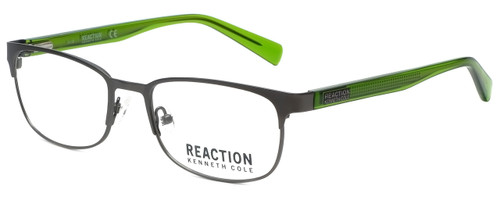 Kenneth Cole Designer Reading Glasses Reaction KC0801-009 in Matte Gunmetal 53mm