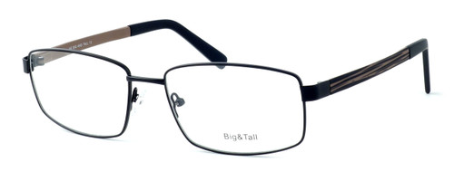 """Calabria Optical Designer Reading Glasses """"Big And Tall"""" Style 12 in Black-Brown"""