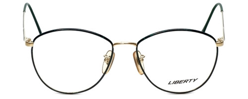 Liberty Optical Designer Reading Glasses Gina-958-5 in Demi Green Gold 55mm