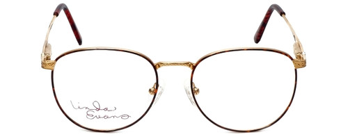 Linda Evans Designer Eyeglasses LE-169 in Demi Amber 53mm :: Rx Single Vision