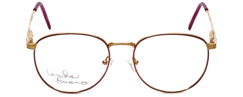 Linda Evans Designer Reading Glasses LE-169 in Burgundy 53mm