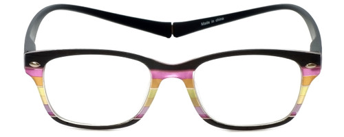66cb8ef87a9 Magz Designer Eyeglasses Greenwich in Multi Black 50mm    Custom Left    Right Lens