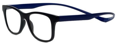 Magz Designer Eyeglasses Chelsea in Black Blue 50mm :: Rx Single Vision