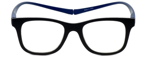 Magz Designer Eyeglasses Chelsea in Black Blue 50mm :: Rx Single Vision