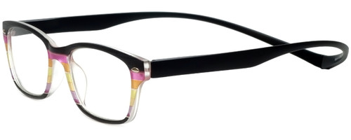 Magz Designer Eyeglasses Greenwich in Multi Black 50mm :: Rx Bi-Focal