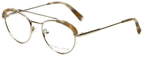 302845d1845 Kendall + Kylie Designer Reading Glasses Shayne KKO132-718 in Light Gold  50mm