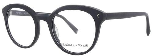 Kendall + Kylie Designer Eyeglasses Arianna KKO103-002 in Black 50mm :: Rx Single Vision