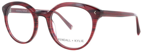 Kendall + Kylie Designer Eyeglasses Arianna KKO103-605 in Burgundy 50mm :: Rx Single Vision